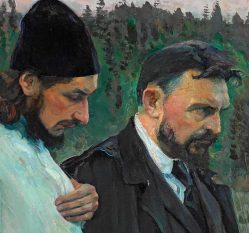 from Nesterov's famous painting of the two walking